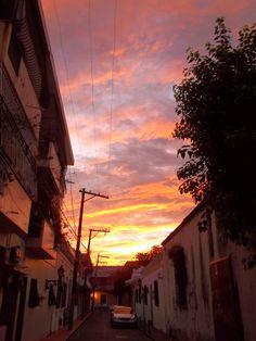 Dawn at Calle Salome Ureña at Duarte, Colonial Zone, Santo Domingo