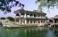 Marble boat built by the Dowager Queen because she wanted a navy...the Summer Palace Beijing