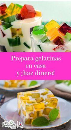 ¿Te gustan las gelatinas y eres buena preparándolas? Emprende tu negocio y vende estos deliciosos postres.