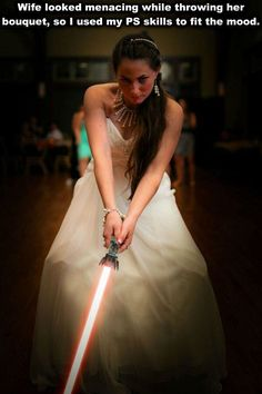 That moment you realize you married a Sith | funny bride photoshop