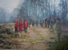 Danuta Krajewska / Before hunting /oil on canvas / 69 x 49cm http://dankrajewska.wix.com/painting
