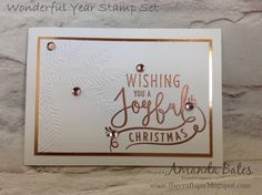 The Craft Spa - Stampin' Up! UK independent demonstrator : Wonderful Year & Pine Boughs Embossing Part 2
