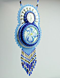 Limited Edition Sleeping Lady Iris Beaded by Beadwork4Sale on Etsy
