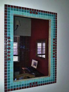 Espejos Con Venecitas Medidas 50 X 70 Ideal Para Baños!!! - $ 650,00 en MercadoLibre Mirror Mosaic, Sweet Home, Crafting, Crochet, Garden, Diy, Furniture, Home Decor, Mosaic Mirrors