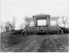 Band Stand in Observation Park City Government, Banks Building, Kansas City Missouri, Washington Street, Historical Pictures, City Streets, Main Street, Time Travel