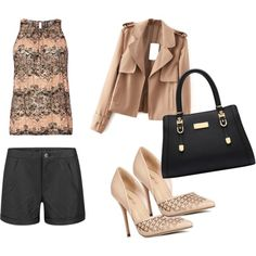 nude by sarah-ann-0 on Polyvore featuring Izabel London, VILA and JustFab