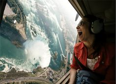 Flight over the Niagara Falls, Canada / USA