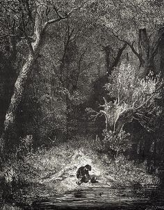 Perrault's Fairy Tales by Charles Perrault and Illustrated by Gustave Dore in html format Gustave Dore, Ink Illustrations, Illustration Art, Saint Dominique, Charles Perrault, Woodcut Art, Dark Pictures, Dark Pics, Bubbline