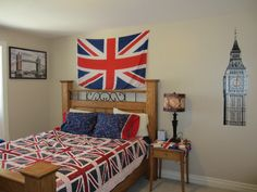 To celebrate the opening ceremonies of the 2012 London Olympic games, view photos of my England themed quilt and bedroom.