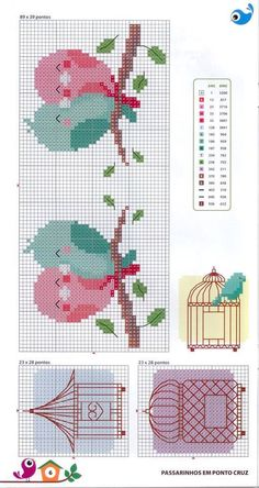"Ponto d Cruz [ ""This Pin was discovered by Mónica Illescas. Discover (and save!) your own Pins…"", ""Lovie bird heart❤"", ""pasari indragostite pe creanga"", ""for bodice of baby dresses"" ] # # # # # # # # # Cross Stitch Boards, Cross Stitch Bookmarks, Cross Stitch Heart, Cross Stitch Animals, Cross Stitch Designs, Cross Stitch Patterns, Cross Stitching, Cross Stitch Embroidery, Beading Patterns"