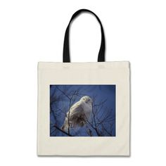Snowy Owl - White Bird against a Sapphire Blue Sky Tote Bags #arctic #owl is #sold  off to Florida! #photography