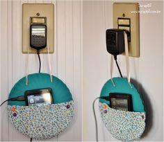 ScrapBi: Suporte para carregar celular - Pratinhos de papel e tecido