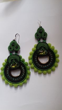 Unique jewelry created for you by mananasjewelry Ear Rings, Leather Jewelry, Jewelry Making, Etsy, Ornaments, How To Make, Instagram, Models, Soutache Jewelry