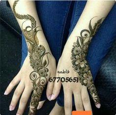 heenty Cool Henna Designs, Hena Designs, Beautiful Henna Designs, Latest Mehndi Designs, Henna Tattoo Designs, Mehndi Style, Mehndi Art, Henna Mehndi, Arabic Henna