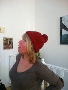 Red woolen hat