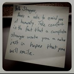 Small acts of kindness make all the difference.