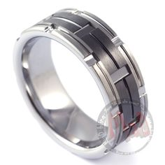 Mad Tungsten Mad Max Black tungsten rings and wedding bands for men in Australia.   #Tungstenrings, tungsten rings for men, Men's tungsten Carbide Rings  http://madtungsten.com.au/shop/mad-max-tungsten-rings/?utm_source=pinterest&utm_medium=organic&utm_term=madtungsten&utm_content=madtungsten%20australia&utm_campaign=2.1.2015