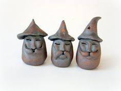 Three Bearded Wizard Stones . Stoneware Ceramic by ProteanArt, $67.00