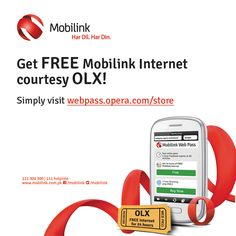 Great news for Mobilink users. Get 24 hours FREE Mobilink internet.