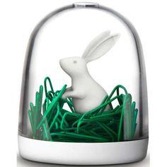 Rabbit #Paperclips Holder | #SplendidWorld.com | #office #organization