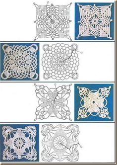 cuadrados de ganchillo fáciles