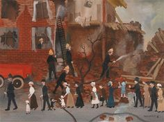 The Bombing of the Seven Sisters Road by Helen Bradley.  |T