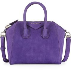 Givenchy Antigona Mini Nubuck Satchel Bag, Purple found on Polyvore