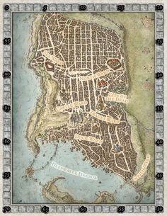 Map of Waterdeep