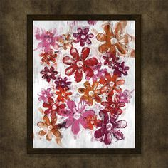 Painted Flowers abstract art digital by WhatAPrintableWorld