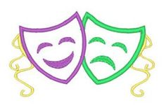Designs :: Occasions :: Mardi Gras :: Applique Masks