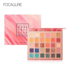 Multipurpose Shimmer Glitter Eye Shadow Powder Palette Matte Eyeshadow Cosmetic Makeup Life Paleta Sombras Focallure Ucanbe A25 Elegant Shape Eye Shadow