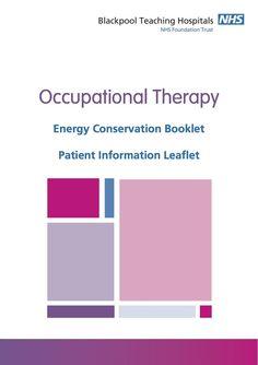 OT Energy Booklet from Blackpool Teaching Hospital