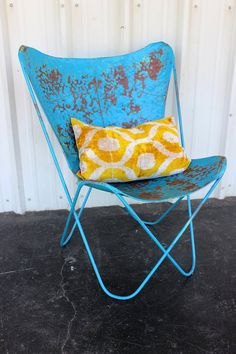 Vintage Yellow Velvet Patterned Pillow : Whipstitch Decorative Throw Pillows, by PIVOT Handmade