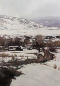 Thistle Creek - by Douglas Fryer  > This piece makes me cold every time I look at it...need to grab a parka.