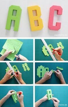 Papercraft Alphabet Abecedario Letras De Papel Paper throughout Paper Crafts Letters - Coloringside. Alphabet Origami, Origami Letter, 3d Alphabet, Alphabet Templates, Diy Origami, Origami Paper, Cardboard Letters, 3d Letters, Paper Letters