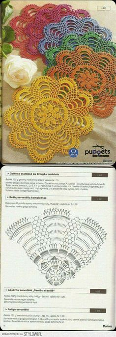 Hobby: Damskie pasje i hobby. Odkryj i pokaż innym Twoje hobby. Crochet Scarf Diagram, Free Crochet Doily Patterns, Crochet Mat, Crochet Dollies, Crochet Circles, Thread Crochet, Filet Crochet, Crochet Designs, Crochet Flowers