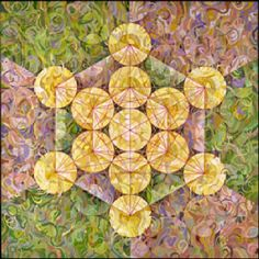 """""""Squared Concentric Circles"""" an acrylic Mandala by Charles Gilchrist"""