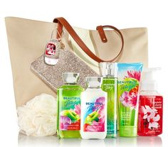 Bath and Body Works Simply Summer Sparkle Tote for $25