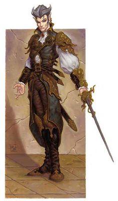 m Elf Bard Leather Rapier urban More swashbuckling. Fantasy Art Men, Fantasy Races, Fantasy Kunst, High Fantasy, Fantasy Warrior, Fantasy Rpg, Male Character, Character Concept, Concept Art