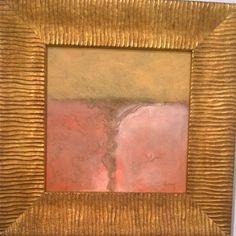"""DOUG SIMON - """"Salt Pond #7"""" Oil on Canvas 11.5"""" x 11.5"""""""