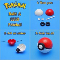Build your own Pokeball http://www.flickr.com/photos/cmaddison/28430205801/