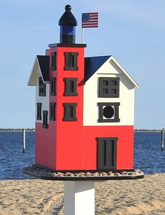 Signature Annapolis Lighthouse Birdhouse, Quality Handcrafted Decorative Bird Houses at Songbird Garden