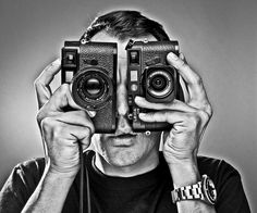 Leica Eyes (self-portrait) by HazardousTaste, via Flickr