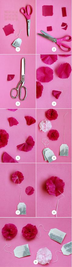 Mother's Day Brunch Idea: DIY Tea Poms