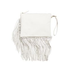 Trend alert: boho fringe! Wear this neutral clutch with your LBD or jeans and t-shirt look. It's a simple way of introducing this edgy detail in your wardrobe. (Stitch Fix Lee Fringe Clutch)
