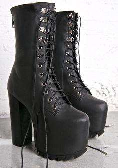 48ff9564501 Current Mood Nola Boots Goth Platform Shoes