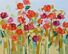 painting roses abstract - Google Search