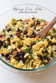 Mango Corn Salsa ~ http://www.fromvalerieskitchen.com: 2.75/3*, delish! cut the recipe in half, used frozen corn, the lime brightens the flavors so don't omit it. Served w/tortilla chips. Made 3/1/17