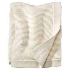 Circo 100% Organic Cotton Blanket How do you achieve knit like this with the small stitches for the border?