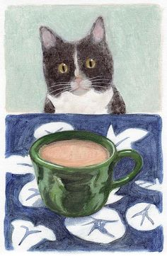 Coffee with Henry No. 4 - Kazumi Kochu kitty cat and coffee are purrfect together!